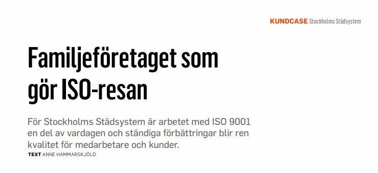 SiS tidning Perspektiv gör ett kundcase med Stockholms Städsystem
