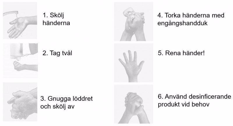 Tvätta händerna på rätt sätt